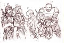 Рыцарь ордена, персонажи